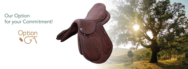 Cork horse saddle